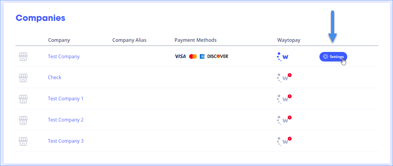 Payment Setting per Company